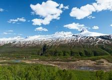 Thompson Pass de Alaska fotos de archivo