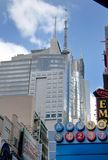 Thompson reuters in New york city times square. A shot of times square - 42 street Stock Photography