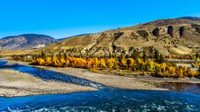 The Thompson River at Spences Bridge in BC Canada royalty free stock photos