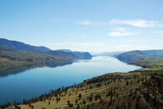 Thompson river valley in british columbia Stock Images