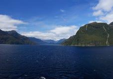 Thompson Sound, fiordland du Nouvelle-Zélande Image libre de droits