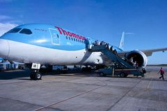 Thomson Dreamliner plane Stock Images
