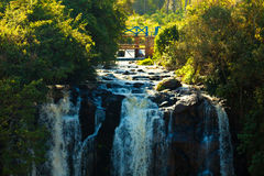Thomson Falls. In Kenya shot from below Royalty Free Stock Photos