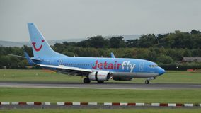 Thomson Jetairfly Boeing 737NG Στοκ εικόνες με δικαίωμα ελεύθερης χρήσης