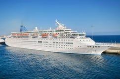 Thomson majesty passenger cruise ship in Lanzarote harbor on November 9, 2015 Stock Image