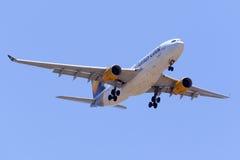 Thomson A330 obenliegend Lizenzfreies Stockbild
