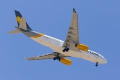Thomson A330 overhead. Stock Image