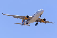 Thomson A330 overhead. Royalty Free Stock Image