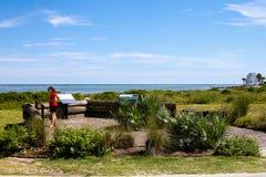 Thomson Park, Sullivan Island, South Carolina lizenzfreie stockbilder