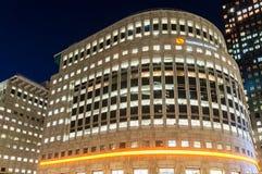 Thomson Reuters Building i Canary Wharf Arkivfoton