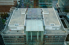 Thomson Reuters Offices, London. LONDON, UK - JULY 1, 2014:  View from above of the headquarters of the Thomson Reuters media and information company in the Stock Image