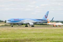 Thomson Tui Airlane Plane Images stock