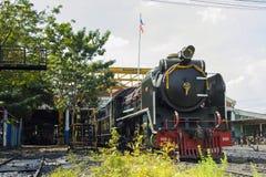 Thon-BURI voortbewegings de Opslag en de reparatiestoomlocomotief van de depotplaats van Thailand royalty-vrije stock foto