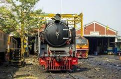 THON-BURI zajezdni miejsca lokomotoryczny magazyn i remontowa Parowa lokomotywa Tajlandia obraz stock