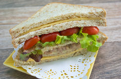 Thon de fromage de sandwich Photographie stock