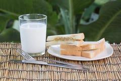 Thon de sandwich et lait frais Photo libre de droits