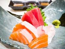 Thon japonais de sashimi de nourriture Images stock