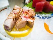 Thon japonais de sashimi de nourriture Photos stock