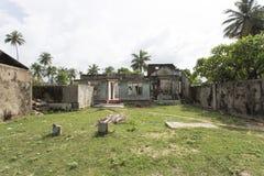 Thondamanaru da zona de guerra, Sri Lanka foto de stock