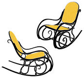 Thonet rocking chair Royalty Free Stock Images