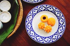 Thong Ek,Thai dessert Royalty Free Stock Photos
