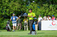 Thongchai Jaidee in Thailand Golf Championship 2015 Royalty Free Stock Images