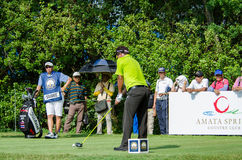 Thongchai Jaidee in Thailand Golf Championship 2015 Royalty Free Stock Photo