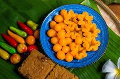 Thongyhip, Thongyod, frutos de imitação deletable, Mung Bean Thai fotos de stock royalty free