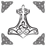 Thor´s hammer (nordic symbol) Royalty Free Stock Images