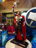 Thor. 1:1 Statue of Thor, Comic and Hollywood celebrity, image taken at The One in Hong Kong Stock Photos