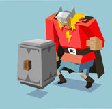 Thor with biggest hammer Royalty Free Stock Photography