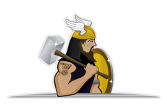 Thor god of thunder. Illustration of Thor, the powerful god of thunder and weather Stock Images