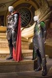 Thor And Loki Customes Brisbane Marvel Exhibition Stock Photography