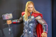 Thor Marvel stående royaltyfria bilder