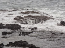 Thor's Well at Cape Perpetua, Oregon Stock Photography
