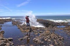 Thor's well Oregon coast. Royalty Free Stock Photo
