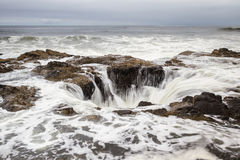 Thor's Well, Oregon Coast Royalty Free Stock Photography