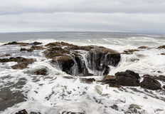 Thor's Well, Oregon Coast Stock Photography