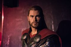 Thor, sculpture en cire, Madame Tussaud image stock