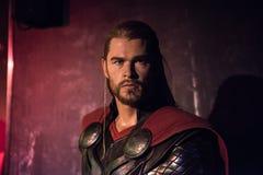Thor vaxskulptur, madam Tussaud fotografering för bildbyråer