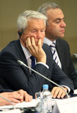 Thorbjørn Jagland in Moscow. Royalty Free Stock Photography