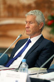 Thorbjørn Jagland in Moscow. Stock Image