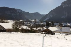 Thorens Glières Alpes Francia Immagine Stock Libera da Diritti