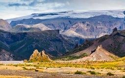 Thormork, Iceland, with clacier Stock Photo