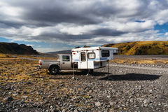 Thormork, Iceland. Wildlife camping Stock Photos