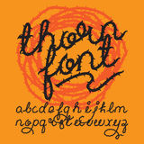 Thorn alphabet vector font Royalty Free Stock Photos