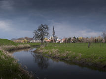 Thorn Dutch lanscape with church Royalty Free Stock Images