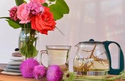 Thorn tea natural grass. Herbal tea;thorn tea natural grass Stock Photos