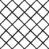 Thorn wire mesh pattern, forbidden area Stock Images