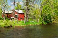 Thornapple flod i Barry County Fotografering för Bildbyråer
